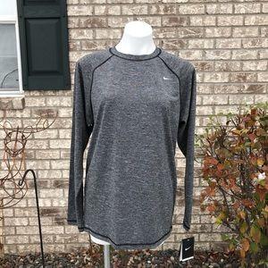Men's Nike Dri Fit Long Sleeve Shirt UPF 40+